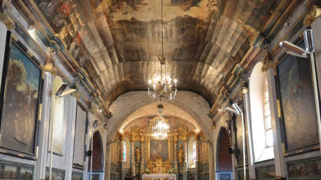 L'église de Lévignacq et son plafond peint | Côte Landes Nature