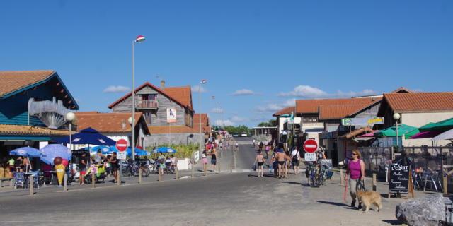 Contis plage et ses commerces | Côte Landes Nature