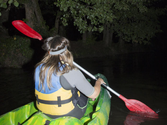 Descente nocturne sur la Palue en canoë