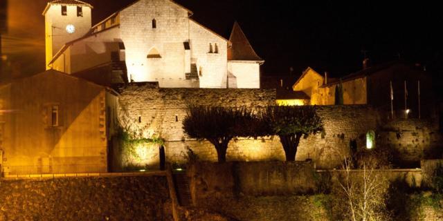 Landes D'armagnac Roquefort Eglise Ste Marie Nuit