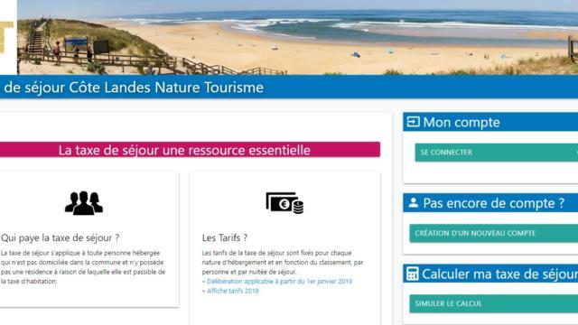 Site Internet pour la Taxe de Séjour en CLN