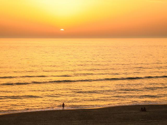 Sunset sur les plages landaises | Côte Landes Nature Tourisme